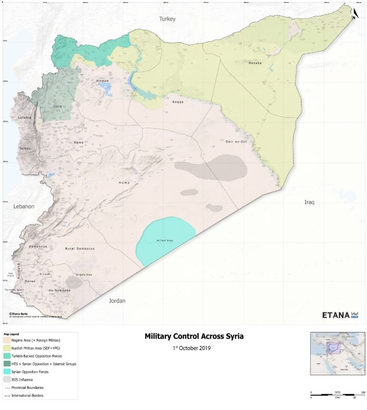 Military Control Across Syria – 1st October 2019