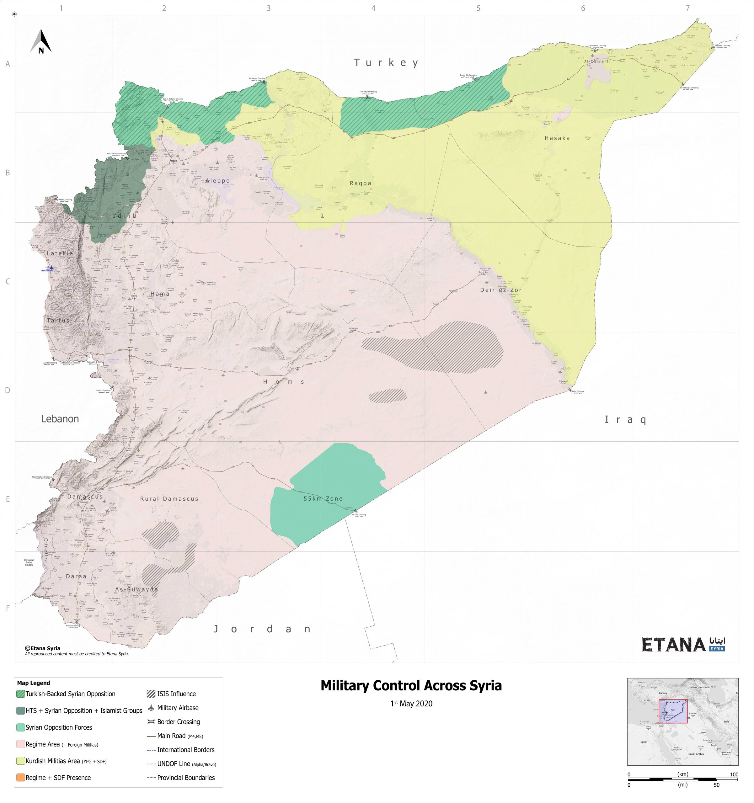 Military Control Across Syria – May 2020