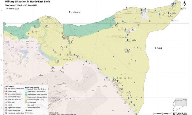 Syria Military Brief: North-East Syria – 30 March 2021